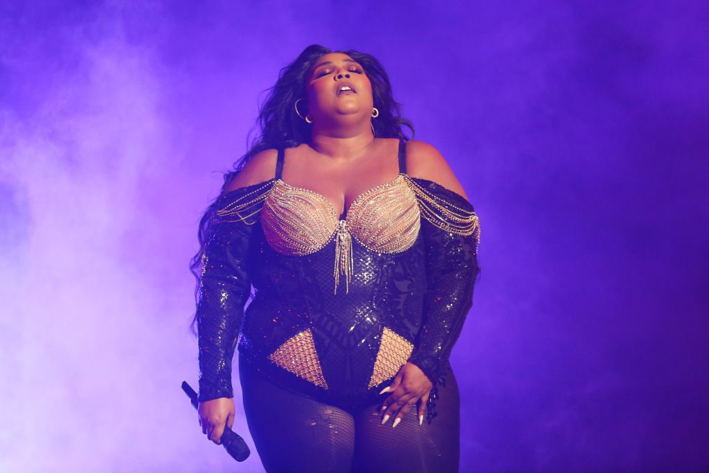 Lizzo performs at Sydney Opera House