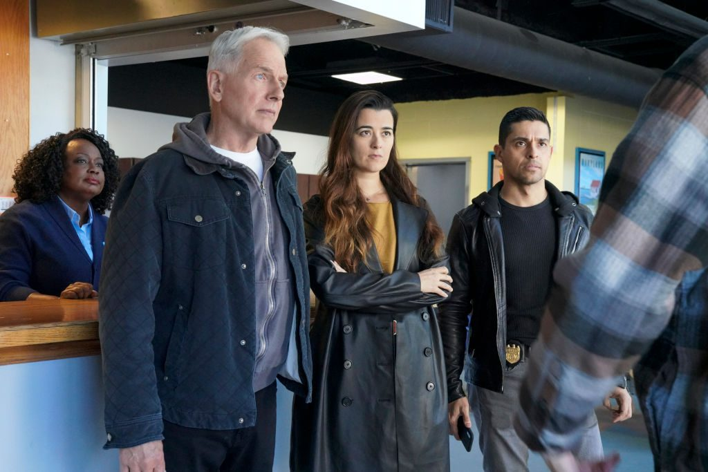 Mark Harmon, Cote de Pablo, and Wilmer Valderrama | Bill Inoshita/CBS via Getty Images
