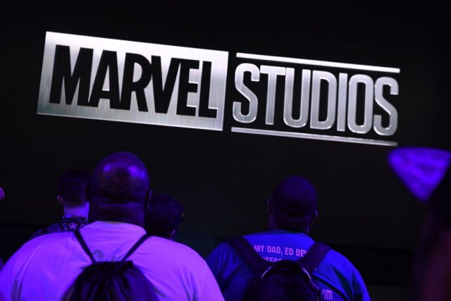 Marvel Studios' visual at the Disney+ booth at the D23 Expo