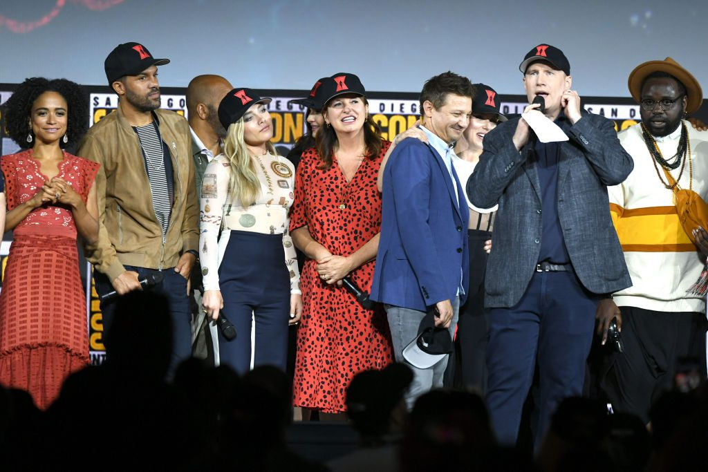 Kevin Feige speaks at the Marvel Studios Panel during 2019 Comic-Con International at San Diego Convention Center on July 20, 2019 in San Diego, California