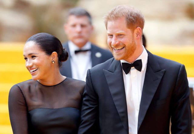 Meghan Markle and Prince Harry at 'The Lion King' European premiere on July 14, 2019