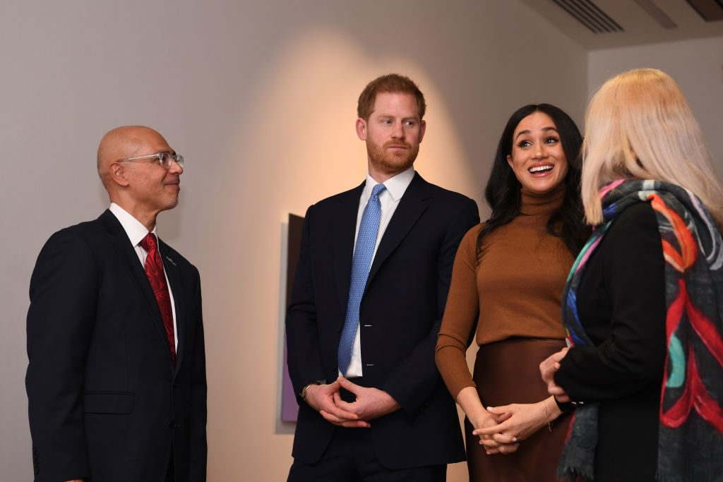 Prince Harry and Meghan, Duchess of Sussex at a special art exhibition in Canada