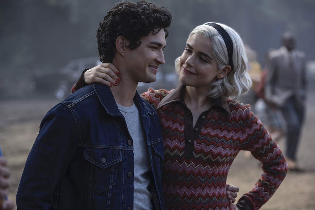 Nick and Sabrina at the carnival in Part 3 of 'CHILLING ADVENTURES OF SABRINA.'