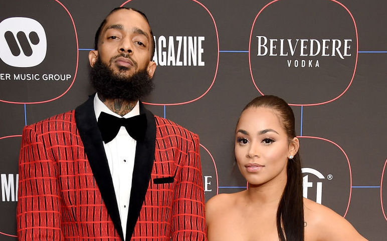 Nipsey Hussle and Lauren London at an event