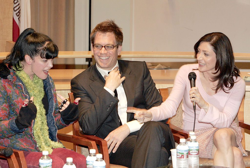 Pauley Perrette, Michael Weatherly and  Sasha Alexander. | Mathew Imaging/FilmMagic