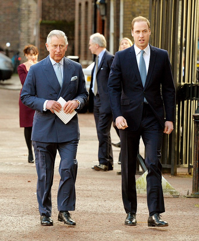 Prince Charles, Prince of Wales and Prince William, Duke of Cambridge