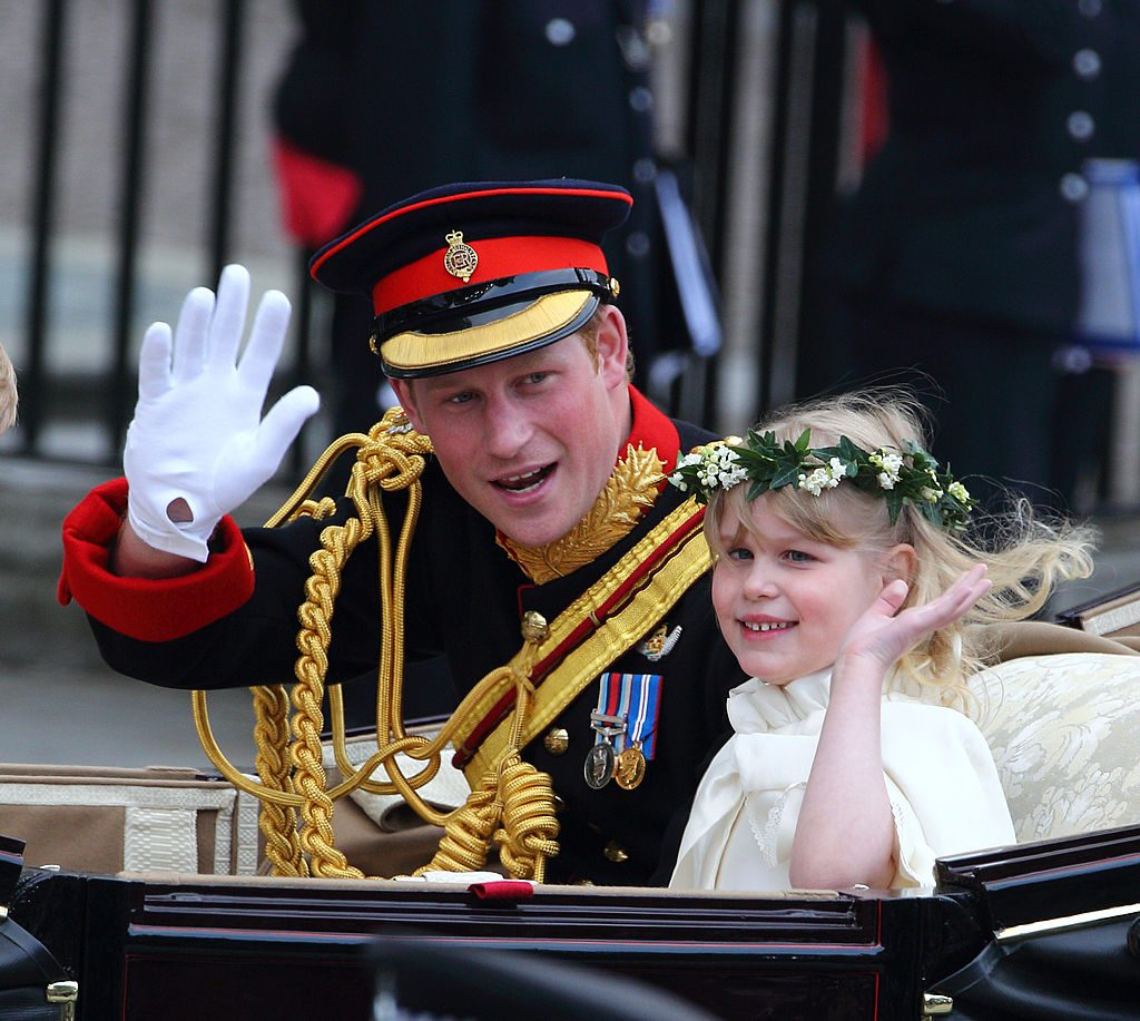 Prince Harry and Lady Louise Windsor at Prince William and Kate Middleton's wedding