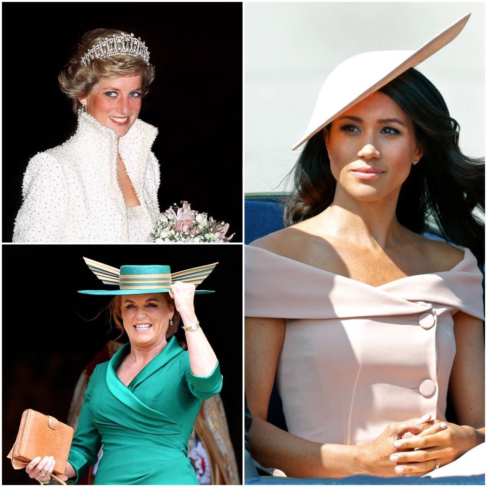 Princess Diana, Sarah Ferguson, Meghan Markle