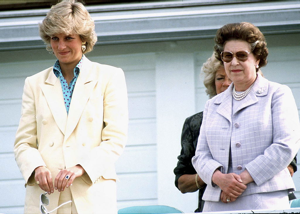 Queen Elizabeth and Princess Diana