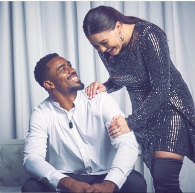Raheem Mostert and his wife, Devon Mostert