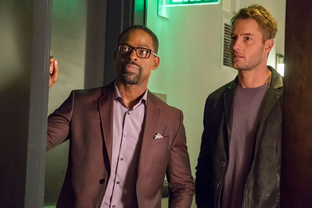 Sterling K. Brown as Randall, Justin Hartley as Kevin This Is Us - Season 2