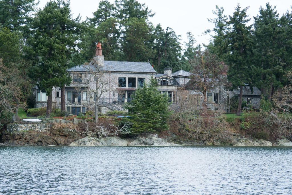 Residence where Prince Harry and Meghan Markle are staying in North Saanich, British Columbia