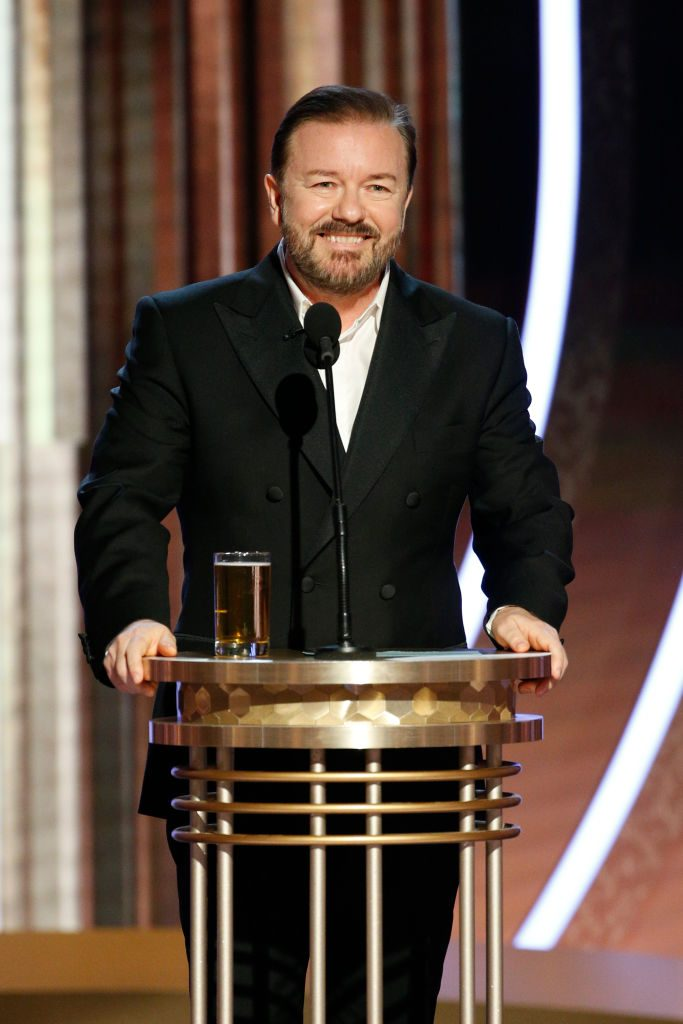 Ricky Gervais at the Golden Globes