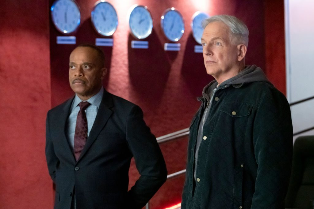 Rocky Carroll and Mark Harmon on NCIS. |  Bill Inoshita/CBS via Getty Images