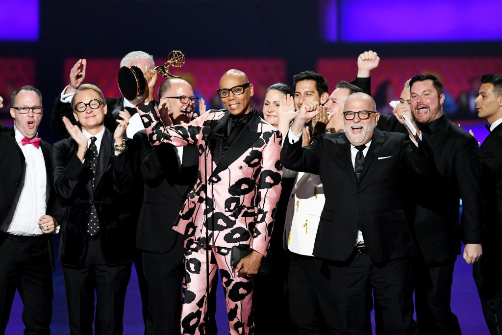 Cast and crew of 'RuPaul's Drag Race' accept the Outstanding Competition Program award