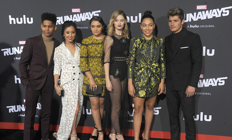The cast of Marvel's 'Runaways' on the red carpet