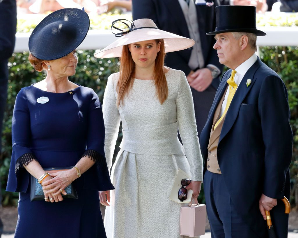 Sarah, Duchess of York, Princess Beatrice and Prince Andrew, Duke of York