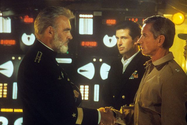 Sean Connery, Alec Baldwin, Scott Glenn in 'The Hunt for Red October' on Dec. 31, 1984