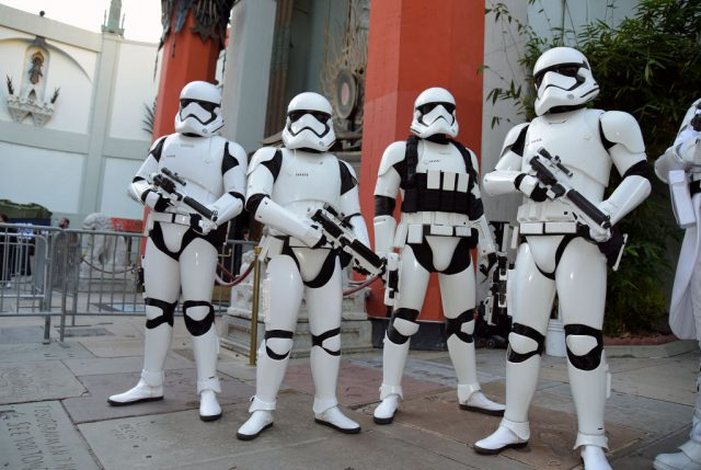 Imperial stormtroopers at the IMAX opening of 'Star Wars: The Rise Of Skywalker'
