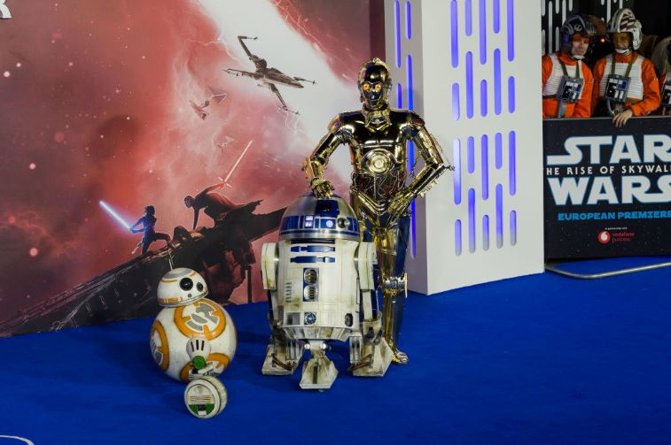 BB-8, D-O, R2-D2, and C-3PO