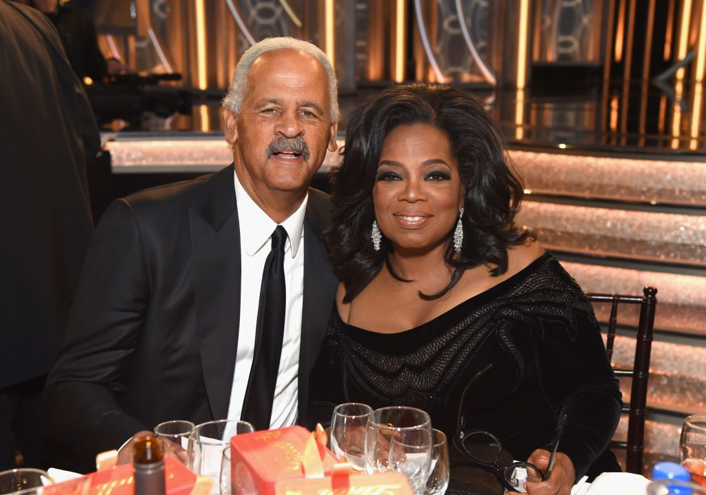 Stedman Graham and Oprah Winfrey at the 2018 Golden Globes |  Michael Kovac/Getty Images for Moet & Chandon
