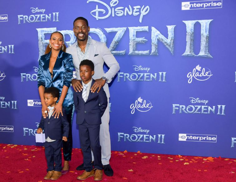Sterling K. Brown, Ryan Michelle Bathe and their two boys