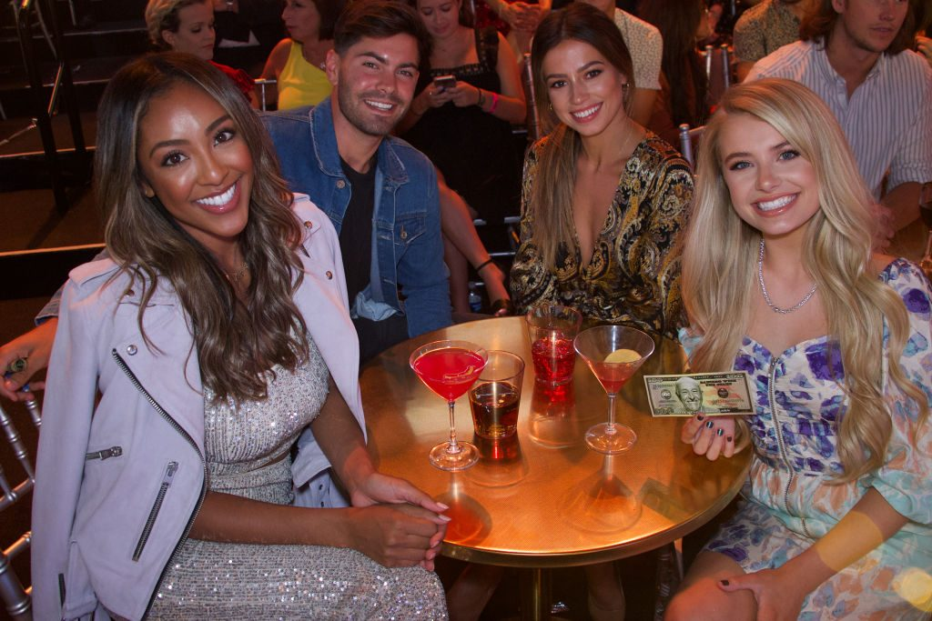 Tayshia Adams, Demi Burnett, Dylan Barbour, Kristina Schulman at 'Dancing With the Stars'