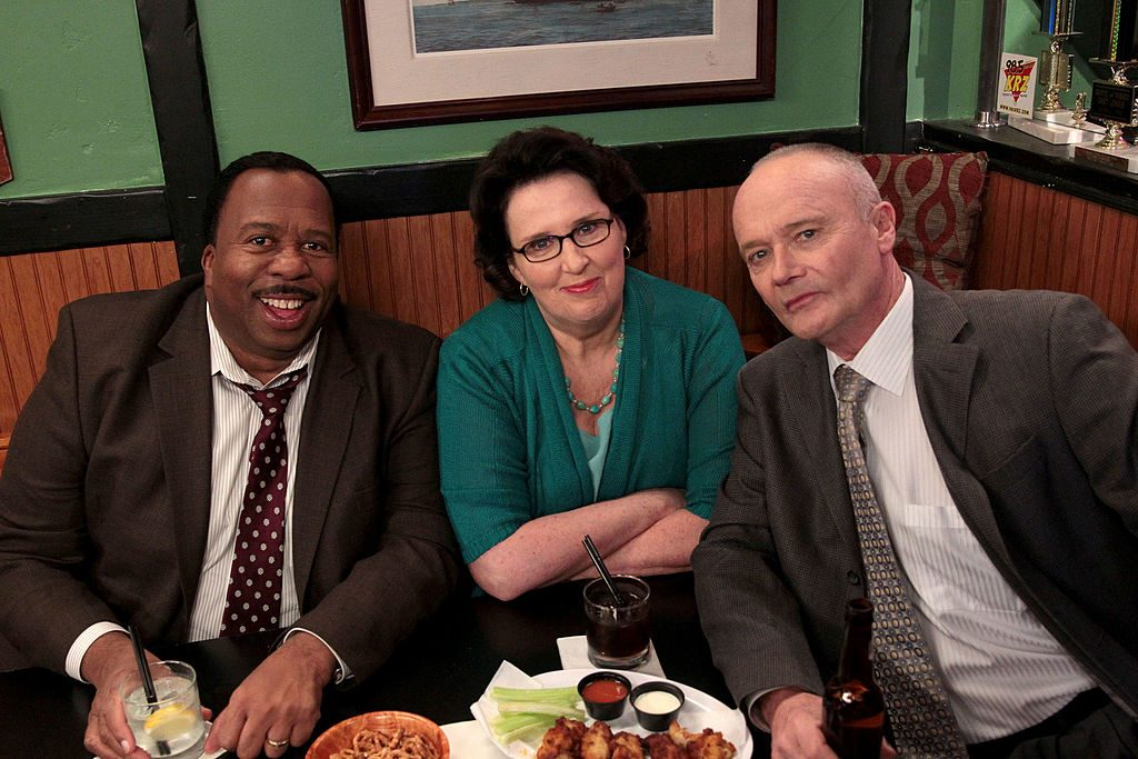 Leslie David Baker as Stanley Hudson, Phyllis Smith as Phyllis Vance, Creed Bratton as Creed Bratton