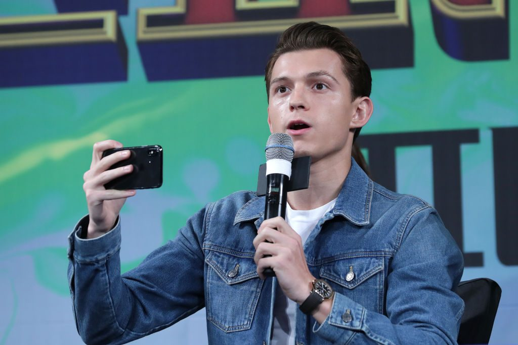 Tom Holland at a press conference for 'Spider-Man: Far From Home' in Seoul, South Korea