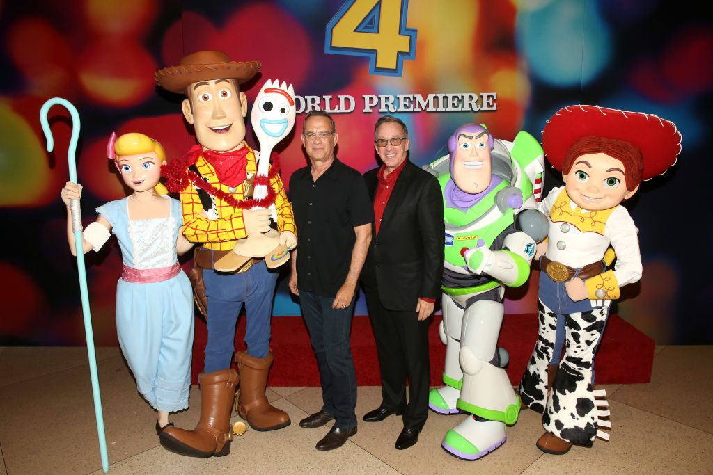 Tom Hanks and Tim Allen at the premiere of Disney and Pixar's 'TOY STORY 4'