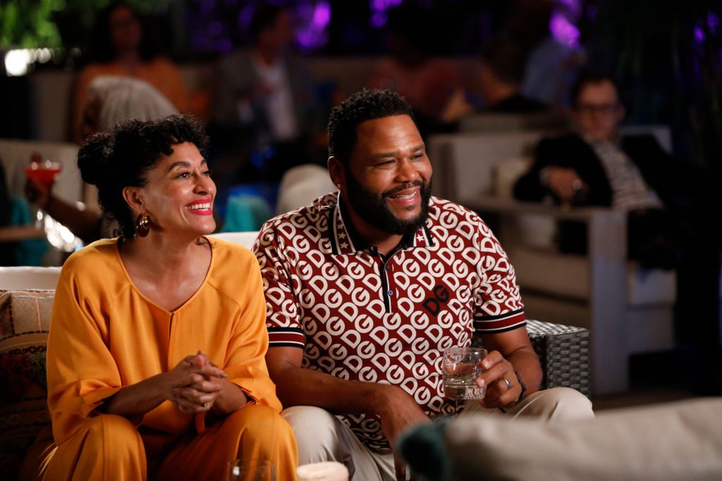 """Tracee Ellis Ross and Anthony Anderson acting on """"Black-ish"""""""