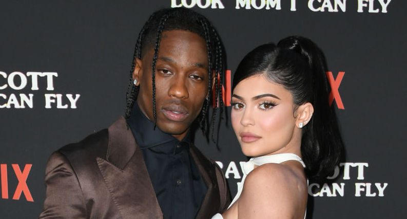 Travis Scott and Kylie Jenner on the red carpet in August 2019