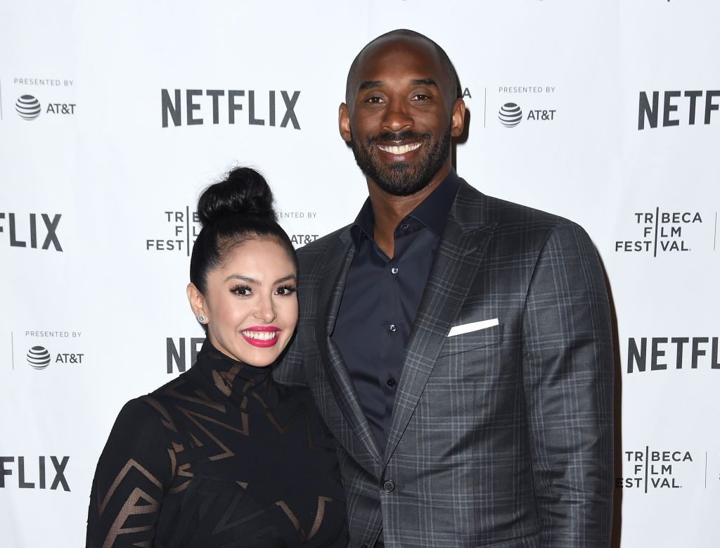 Kobe Bryant and Vanessa Bryant on the red carpet in 2017