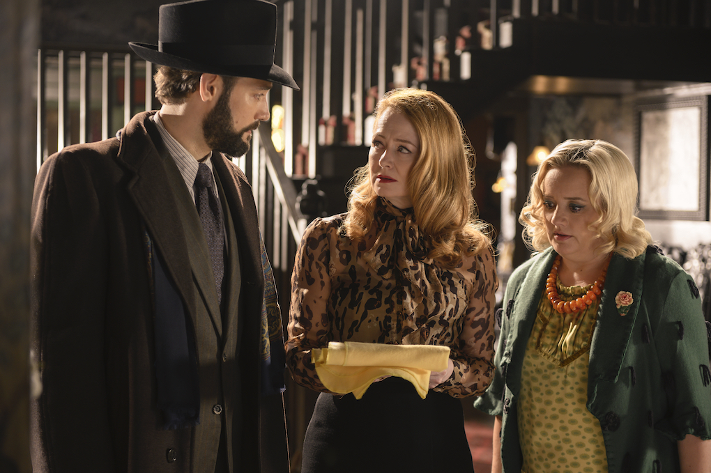 Zelda, Hilda, and their brother Edward Spellman search Zelda's memories for help, 'CHILLING ADVENTURES OF SABRINA.'