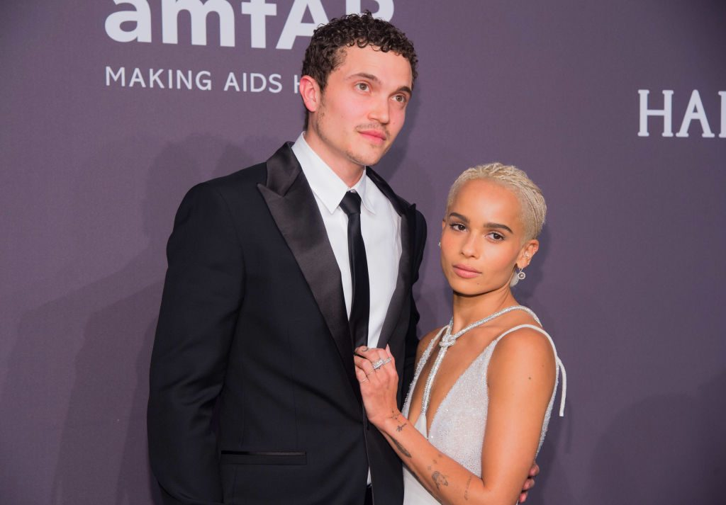 Zoë Kravitz and her husband, Karl Glusman, at the New York Gala