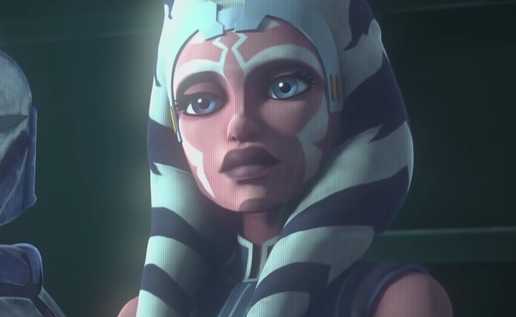 Ahsoka in a transmission to Anakin and Obi-Wan in 'The Clone Wars' Season 7 trailer.
