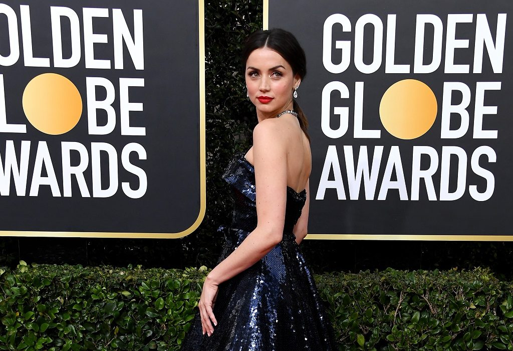 Ana de Armas attends the 77th Annual Golden Globe Awards on January 05, 2020