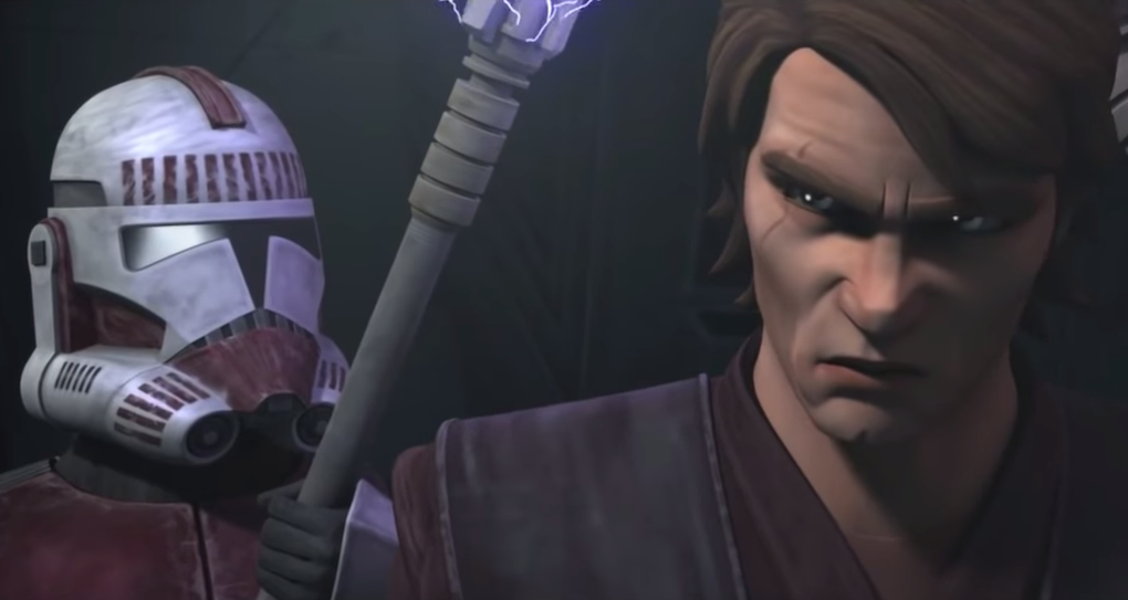 Anakin is angered that he isn't allowed to visit Ahsoka in prison in Season 5, Episode 18 of 'The Clone Wars.'