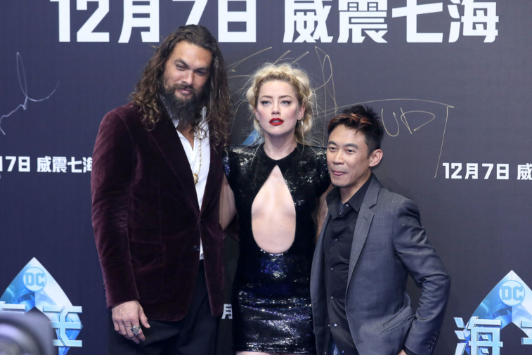 Jason Momoa, Amber Heard and 'Aquaman' director James Wan