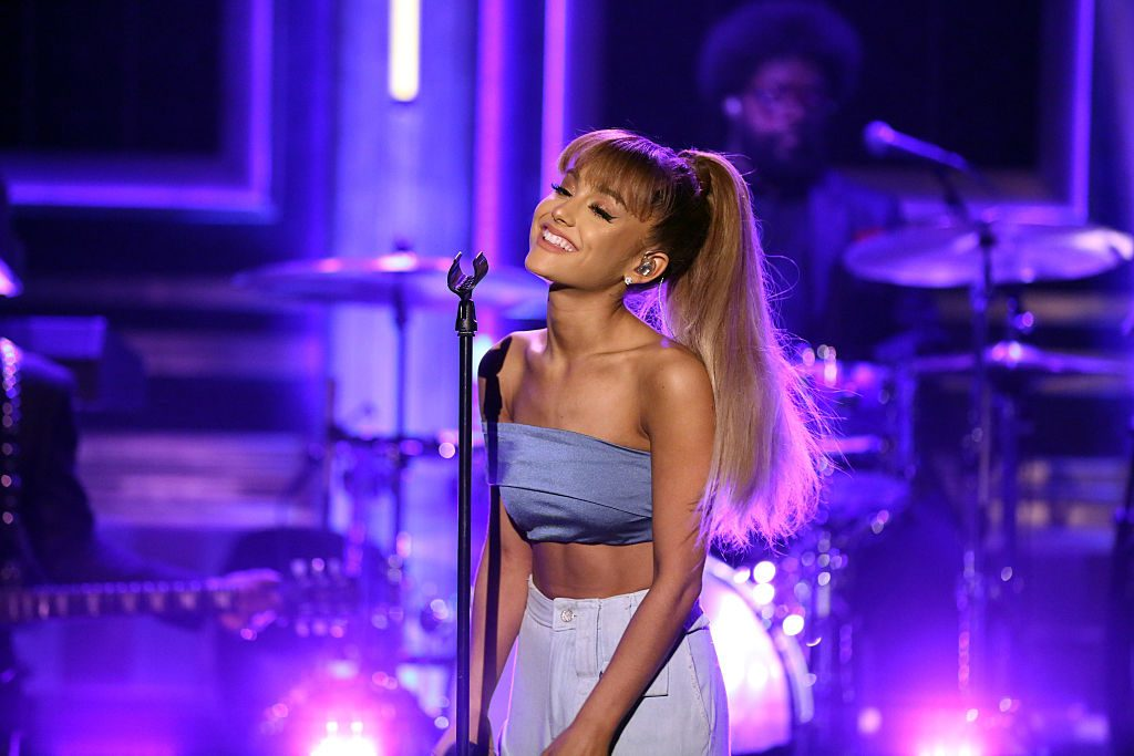Ariana Grande performing with The Root