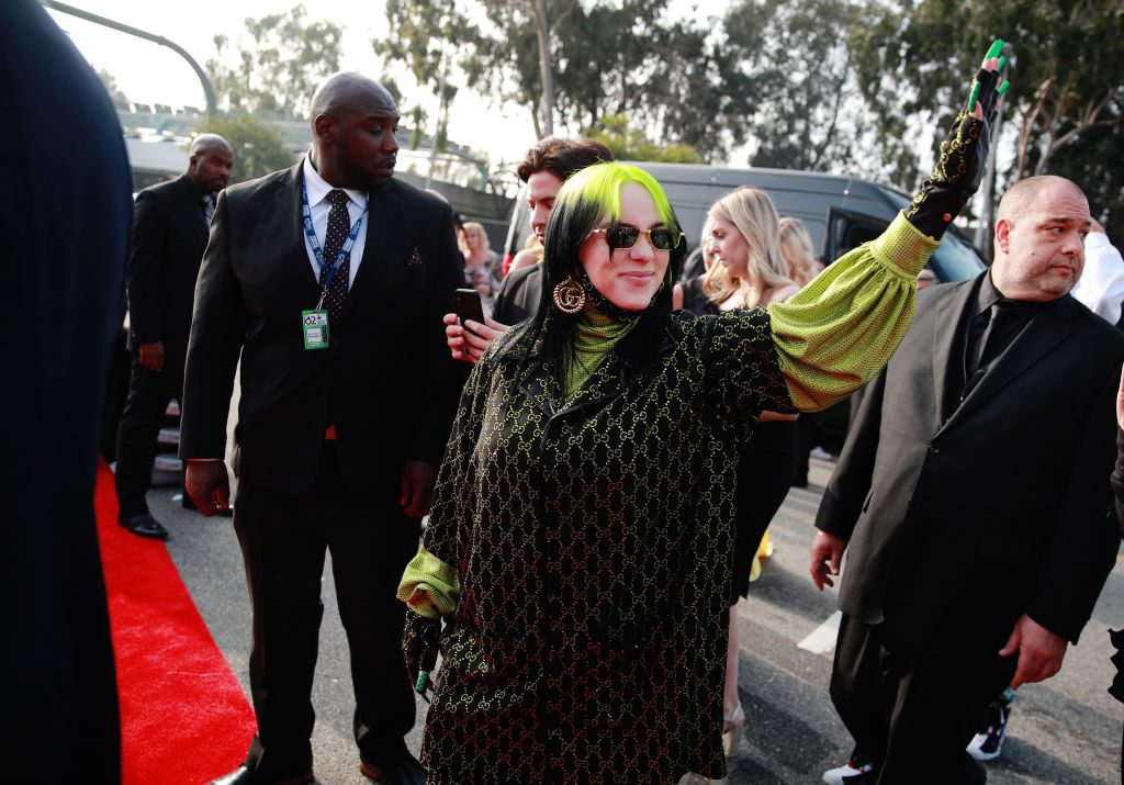 Billie Eilish attends the 62nd Annual GRAMMY Awards on January 26, 2020