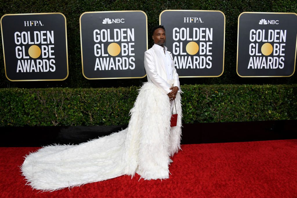 Billy Porter arrives at the 77th Annual Golden Globe Awards on January 5, 2020