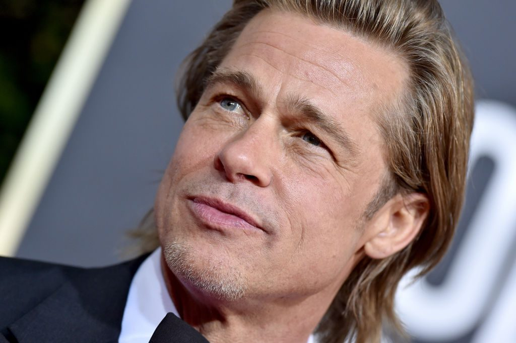 Brad Pitt attends the 77th Annual Golden Globe Awards.