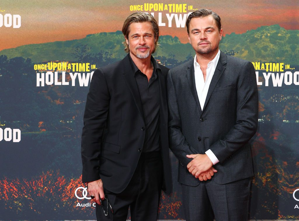 "Brad Pitt and Leonardo DiCaprio at the premiere of ""Once Upon A Time In Hollywood"""