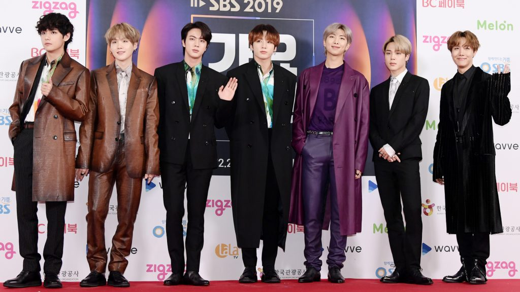 BTS attends 2019 SBS Gayo Daejeon Photocall at Gocheok Sky Dome on December 25, 2019 in Seoul, South Korea.