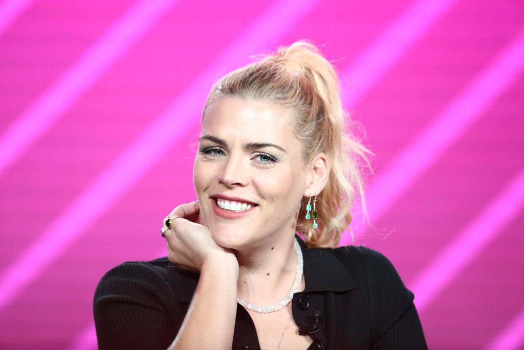 "Busy Philipps speaks on the ""Busy Tonight"" panel."