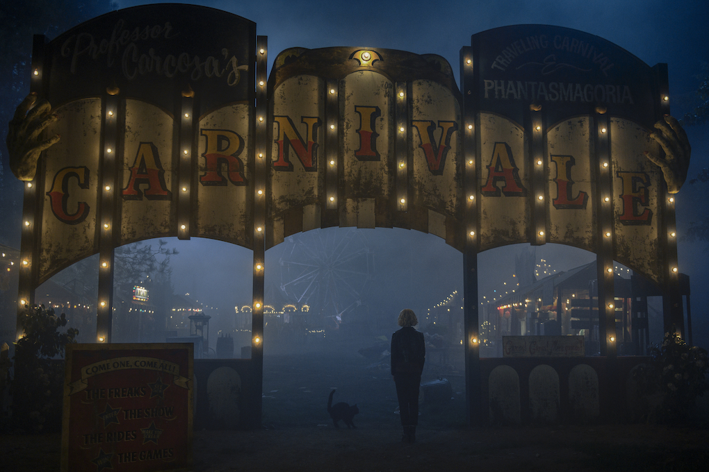 The Old Ones' Carnivale sign in 'CHILLING ADVENTURES OF SABRINA.'