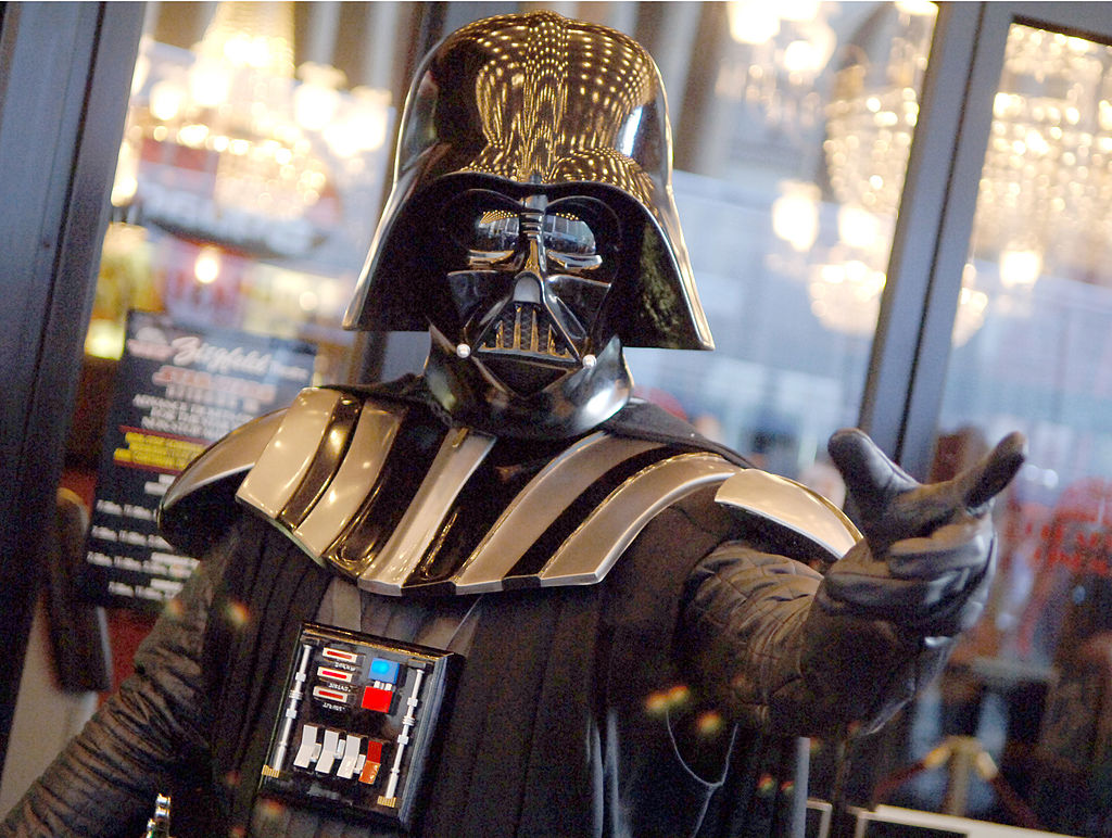 Darth Vader Force chokes someone at the 'Star Wars: Episode III - Revenge of The Sith' Premiere Benefit for The Children's Health Fund in New York.