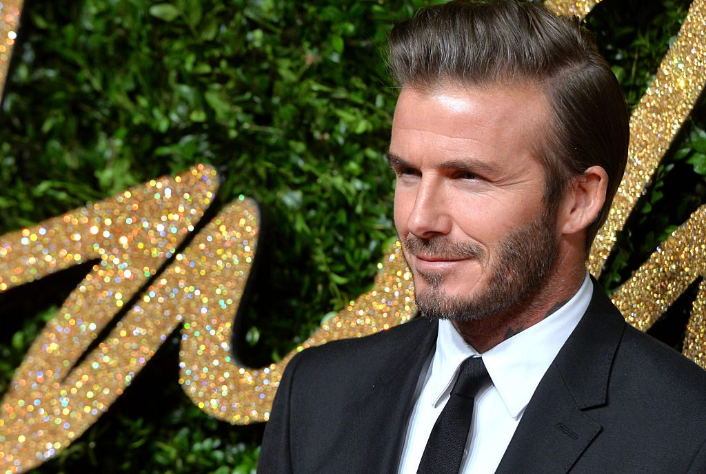 David Beckham attends the British Fashion Awards.