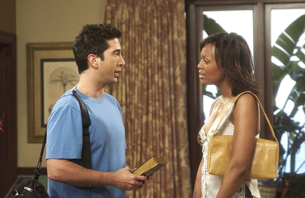 David Schwimmer and Aisha Tyler in NBC's 'Friends'